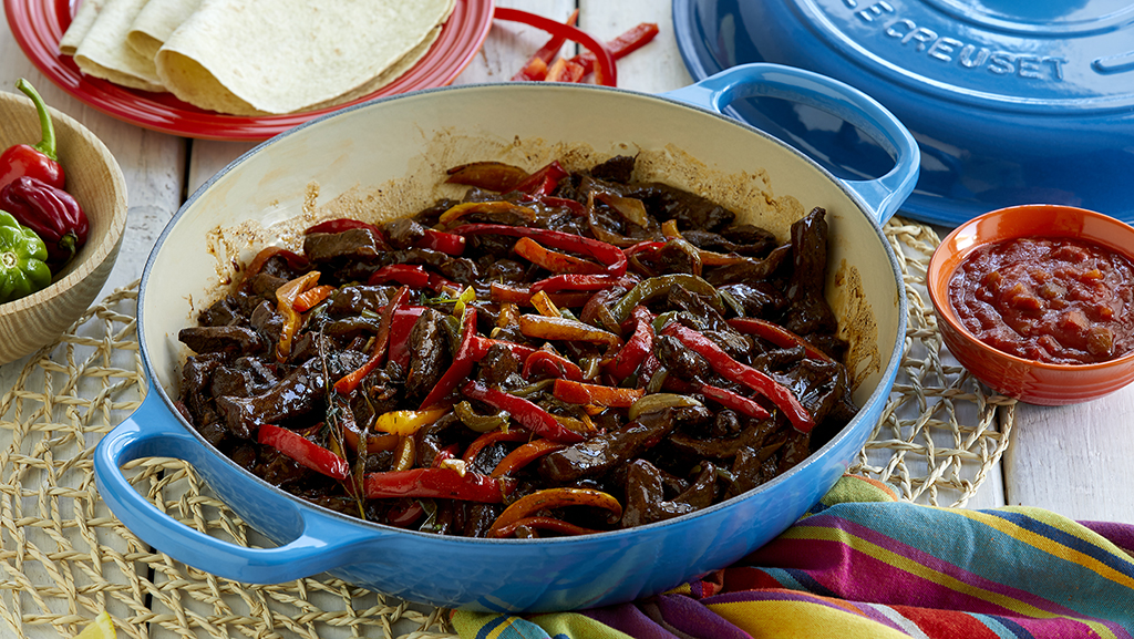 Fajitas med karibisk pepparstek